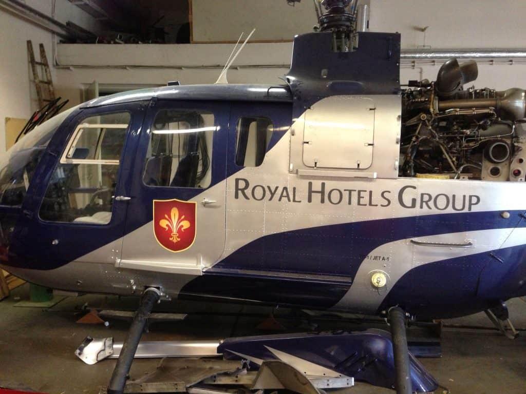 Helikopter Lackiervorbereitung