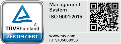 TÜV Rheinland zertifiziert ISO 9001